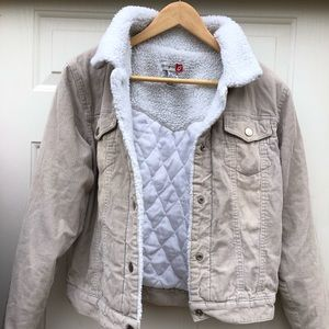 Kali-Girl 100% Cotton Quilted Fleece-lined Jacket
